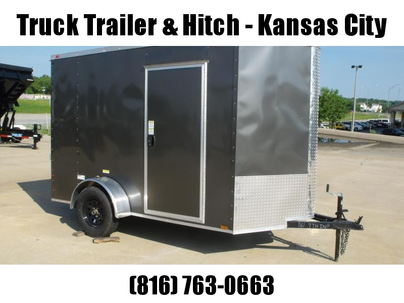 """Enclosed Trailer 6 X 10 Ramp  6' 5""""   Interior Charcoal In Color  All Tube Construction"""