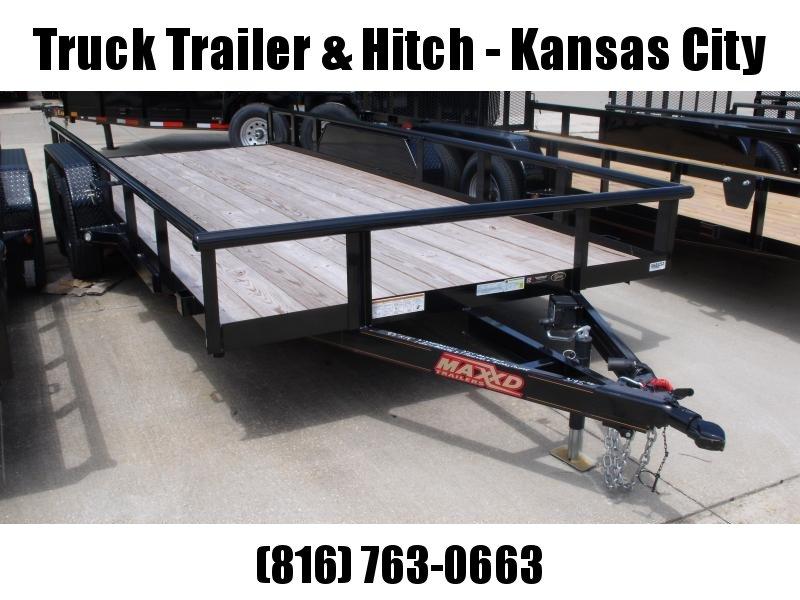 Utility Trailer ATV Trailer 83 X 18  Brakes Pipe Rail Top  7000 GVW
