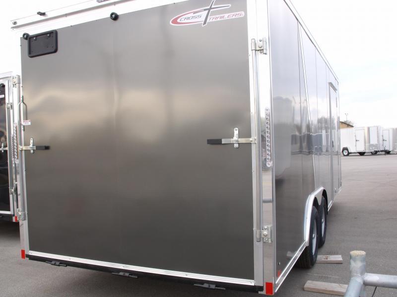Enclosed Trailer  8.5 X 20 Dove Ramp 7' Interior 9990 GVWR Two Tone Silver Frt/Charcoal Rear