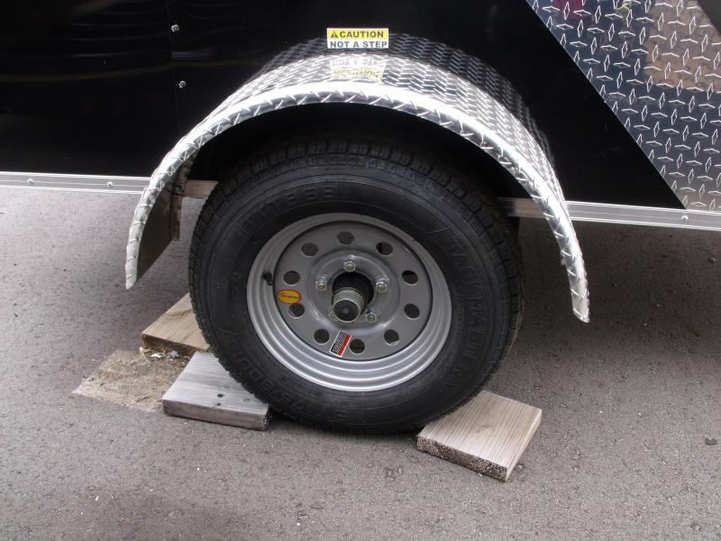 USED  Enclosed Trailer 4 X 8 BARN DOOR Custom Two Tone Charcoal/Black 2000 # Axle ALL Tube Construction