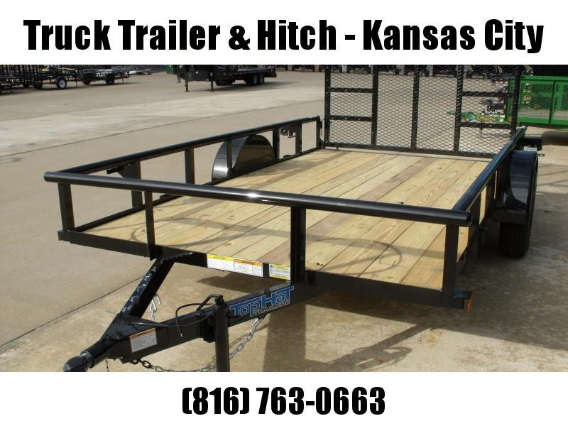 "Utility Trailer 83 x 12    Pipe Rail Top   Rear 48"" Lay-N-Tailgate  2990 Axle"