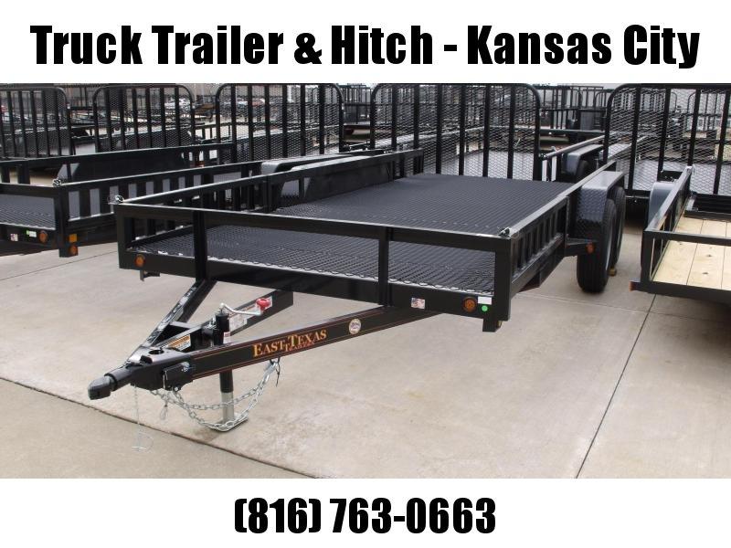 ATV Trailer Utility Trailer 83 X 16 Mesh Floor Number 6 Very Stiff 7000 GVWR Black  In Color