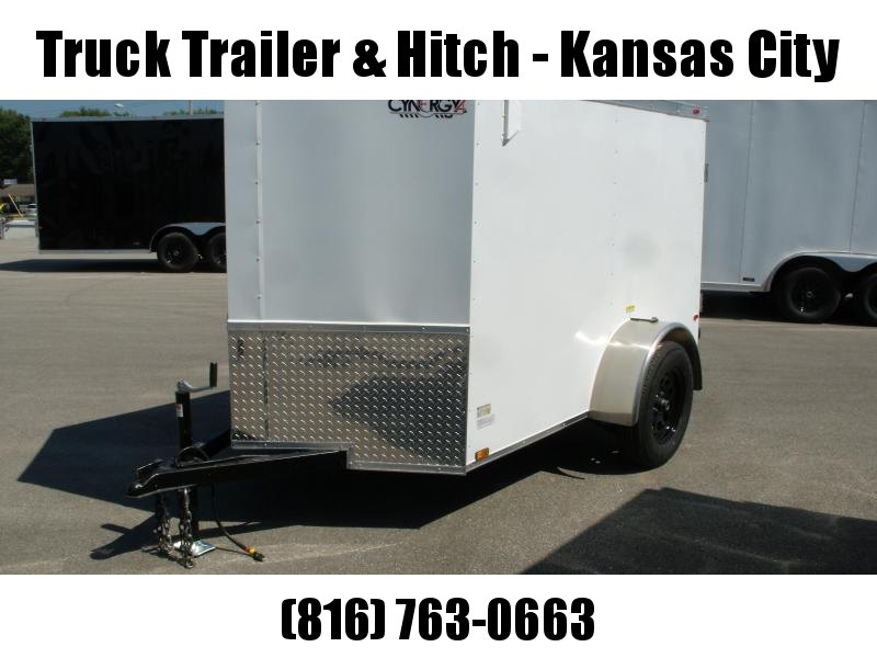 Enclosed Trailer 5 x 8 Enclosed Cargo Trailer RAMP  DOOR  WHITE  In Color