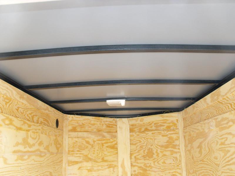 Enclosed Trailer 5 x 8 Enclosed Cargo Trailer BARN DOOR  BLACK  In Color