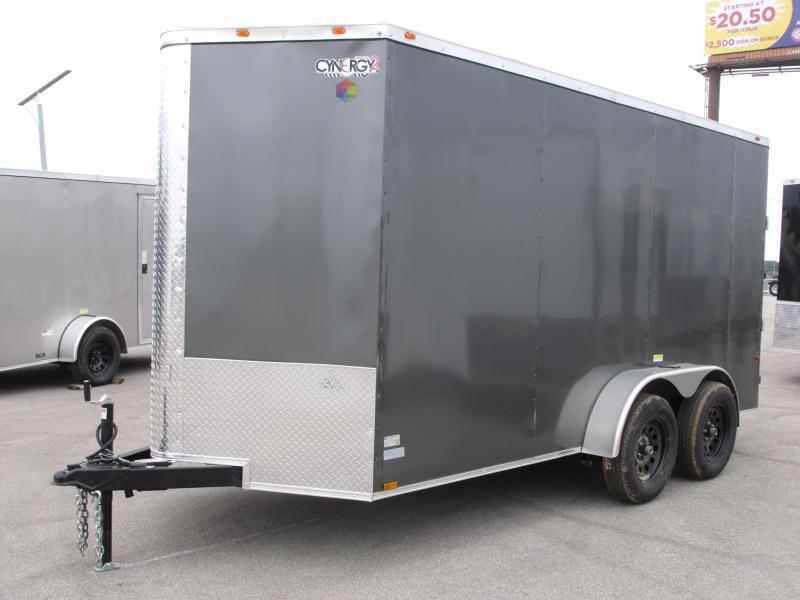 "Enclosed Trailer  6 x 14  Ramp 6'9"" Interior CHARCOAL  In Color Ramp Door  7000 GVWR"
