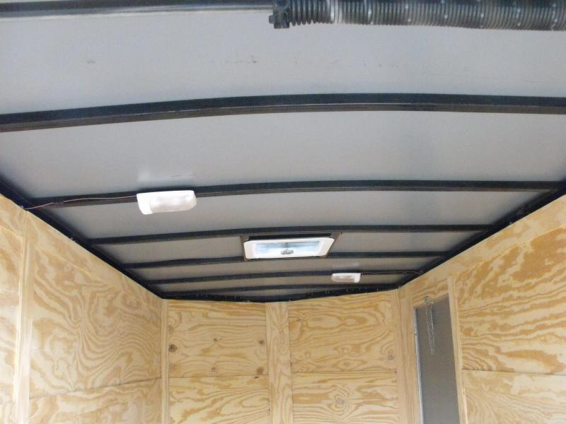 """Enclosed Trailer 6 X 12 Ramp  6' 3""""  Interior Silver Mist   In Color  All Tube Construction"""