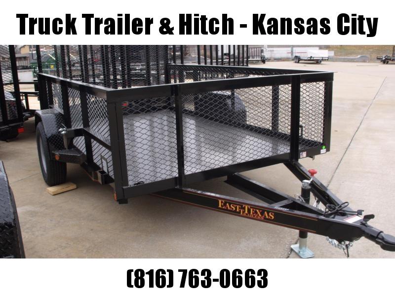 High-Wall Landscape Trailer 72 X 10 Metal Deck Spring Assisted Gate  Black  In Color