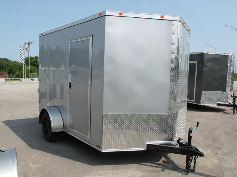 """Enclosed Trailer 7 X 10 Ramp  6' 9""""   Interior SILVER MIST  In Color  All Tube Construction"""