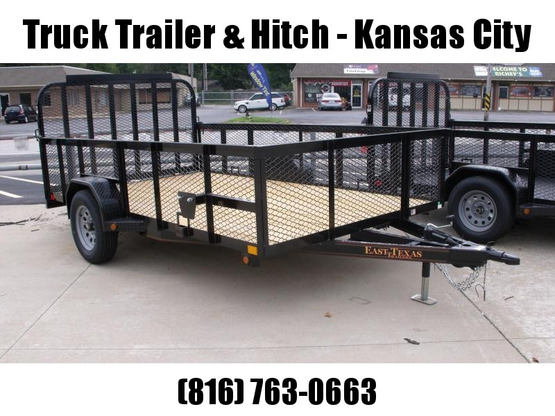 High-Wall Trailer 83 x 12 Utility Trailer Mesh Sides  3500 LB  Axle With Electric Brakes