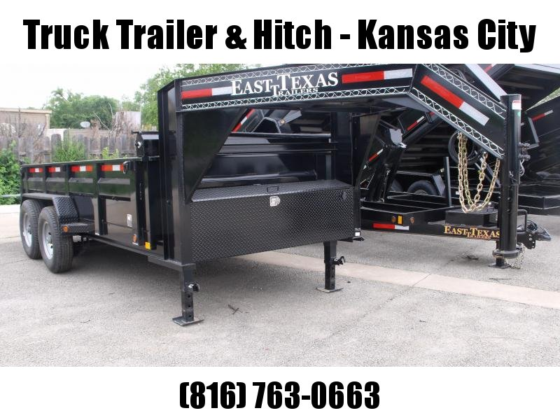 Dump Trailer  Gooseneck LOW PRO  83 X 14   14000 GVW  Tarp Included