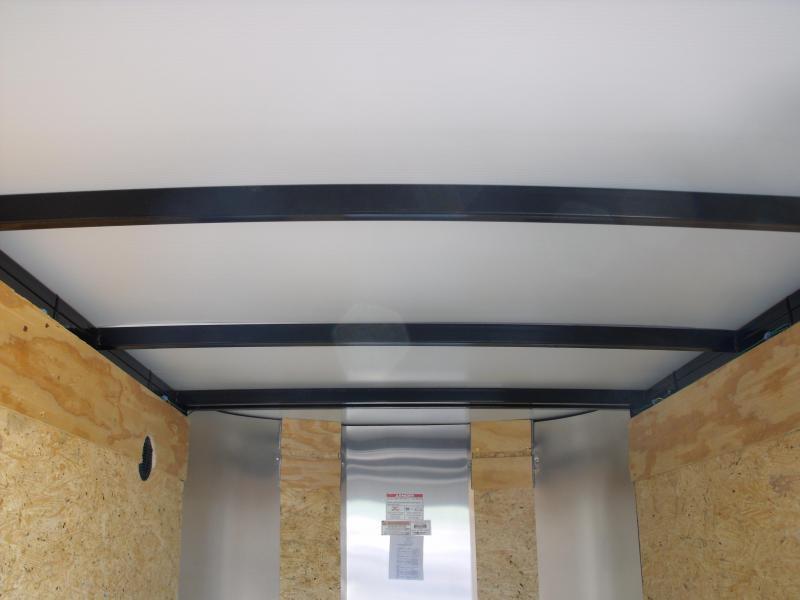 """Enclosed Trailer 4 X 6 Barn Door 4'6""""  Interior Black In Color"""