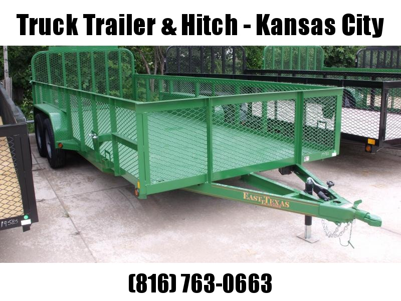 High-Wall  Metal Trailer Landscape Trailer 83 X 18  Ramp   John Deer Green   7000 GVW