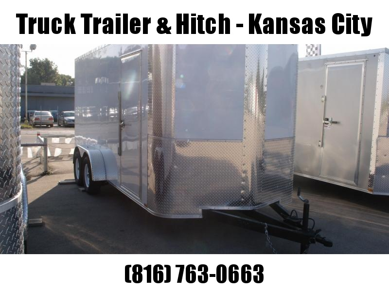Enclosed Trailer 7 X 16 Ramp 7' Height  White   In Color ALL Tube Construction