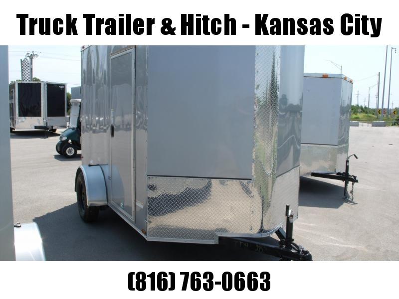 """Enclosed Trailer Razor Trailer  6 X 10 Ramp  6' 9 """"  ATV   Interior Silver Mist  In Color  All Tube Construction"""