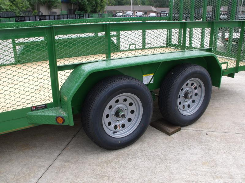 High-Wall  Trailer Landscape Trailer 83 X 18  Ramp   John Deer Green   7000 GVW