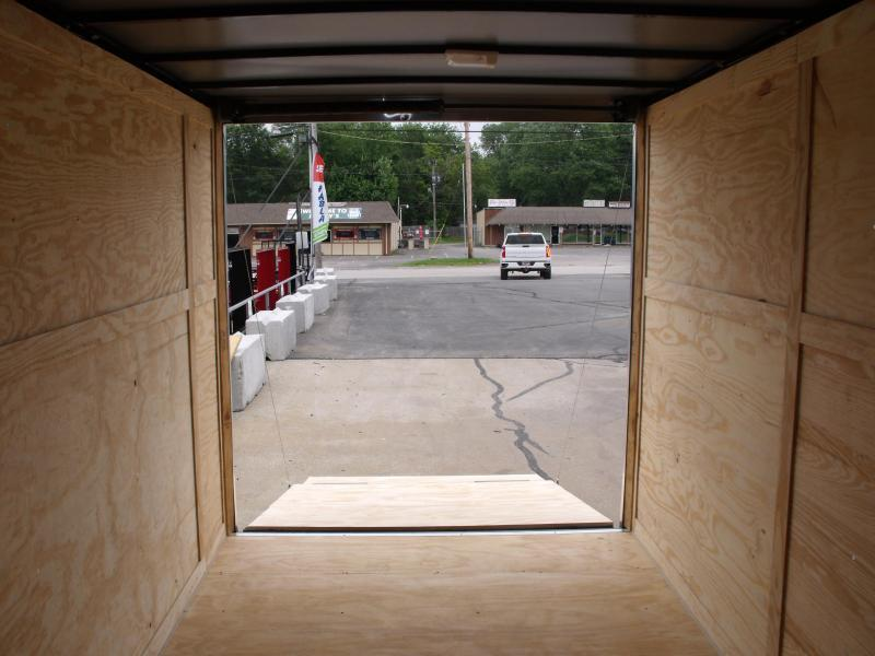 Enclosed Trailer  7 x 14  Ramp 7' Interior SILVER MIST  In Color Ramp Door  7000 GVWR