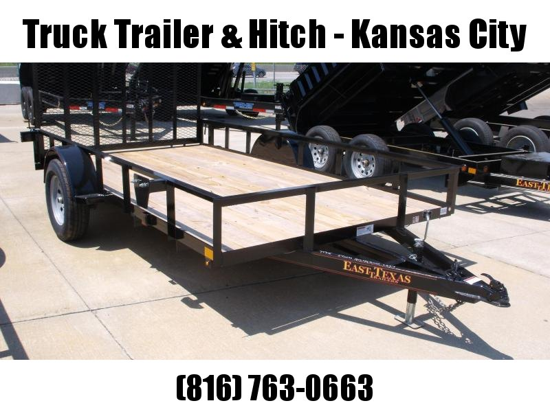 Utility Trailer 77 x 12 Spring Assisted  Ramp 2990 # Axle