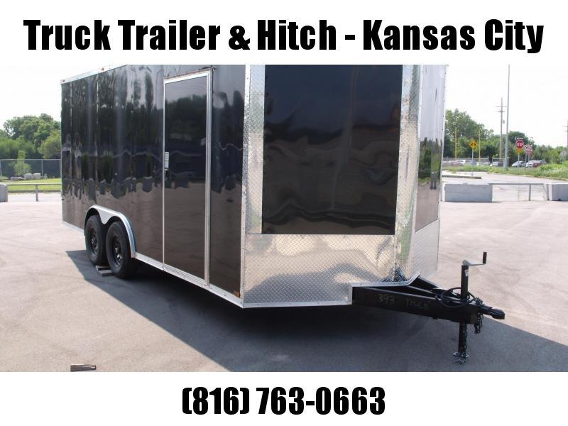 Enclosed Trailer 8.5 X 18  Ramp 7' Interior BLACK In Color Ramp Door  9990  GVWR