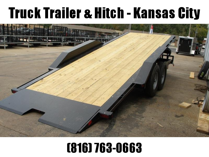 "Tilt Trailer 83 X 20' 6""  Equipment Trailer 14000 GVW Torflex Axles"