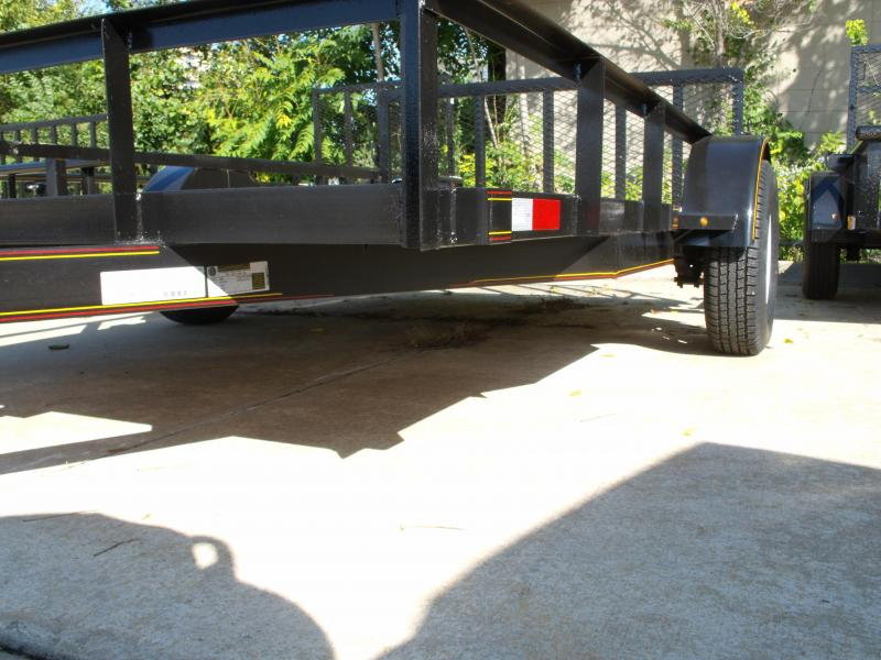 """Utility Trailer  82"""" X 12 Dove Spring Assisted Gate 2990 Axle"""
