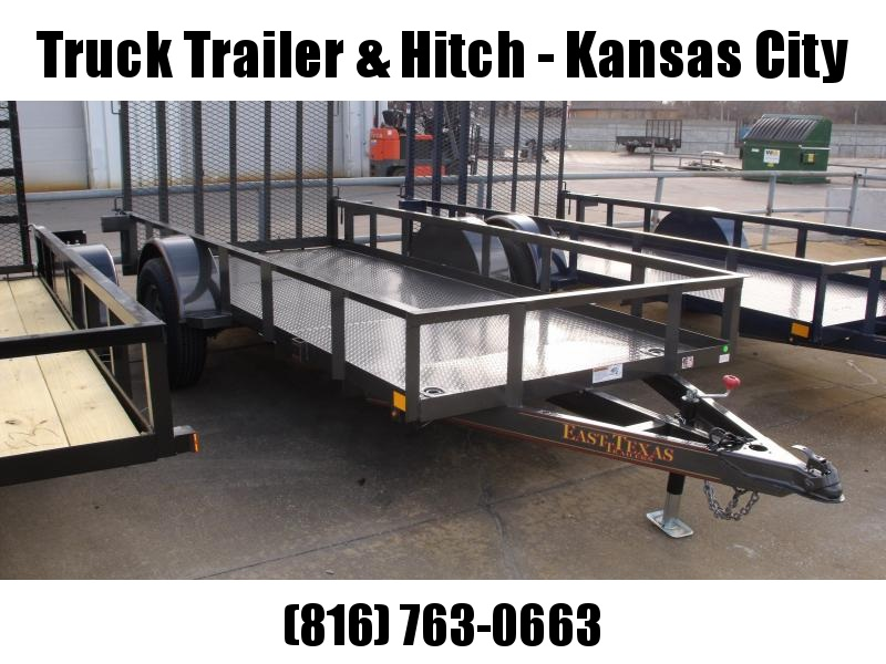 Utility Trailer 5 X 12 Charcoal Gray  In Color Spring Assisted Ramp 2990 Axle
