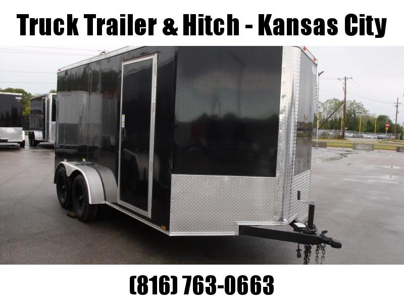 "Enclosed Trailer  7 x 14  Ramp 6' 3""  Interior BLACK In Color Ramp Door  7000 GVWR"