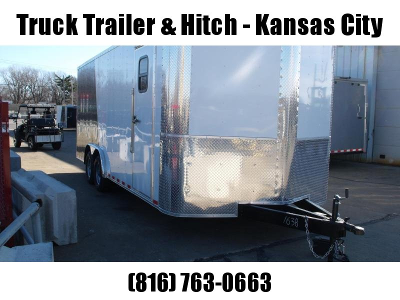Enclosed Trailer 8.5 X 20 Ramp (Dove)  7 ' Interior 9990 GVW Two Tone In Color White Front/ Charcoal Rear   ALL TUBE Construction  4 Wheel Brakes