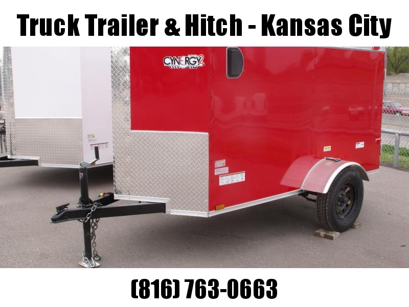 Enclosed Trailer 4 x 8 Enclosed Cargo Trailer Barn Door  Red In Color Tube Construction