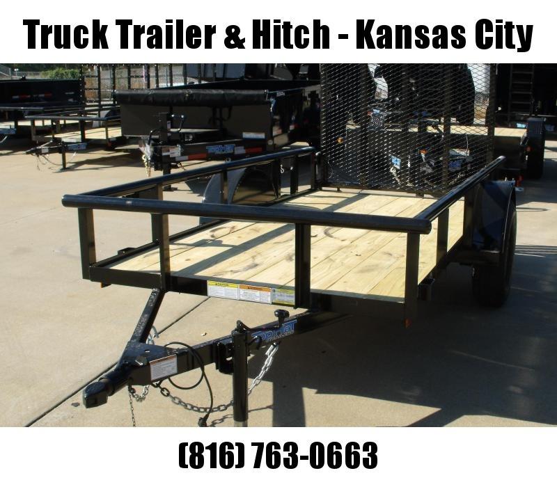 "Utility Trailer 5 X 12   Pipe Rail Top  Rear  48"" Lay-N-Tailgate Gate 2990 Axle"