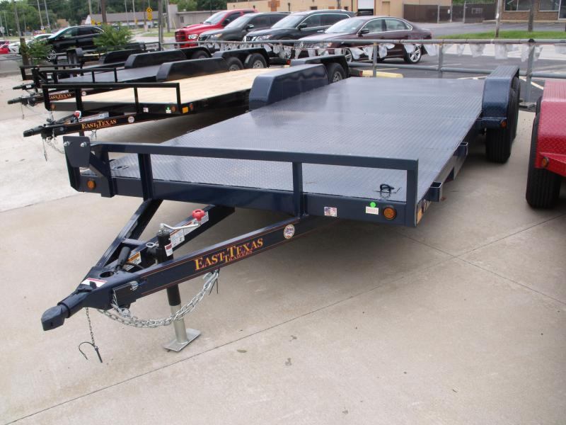 83 X 20 Dove  Metal Deck Car Hauler 7000 GVW  Brakes Ramps Midnight Blue  In Color