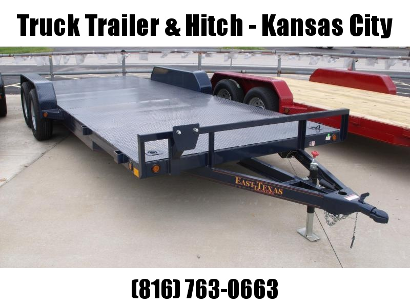 83 X 20 Dove  Metal Deck Car Hauler 7000 GVW 4 WL Brakes Ramps Midnight Blue  In Color