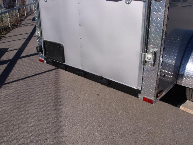 Enclosed Trailer  5 X 8 Ramp 5' Height Silver Mist  In Color