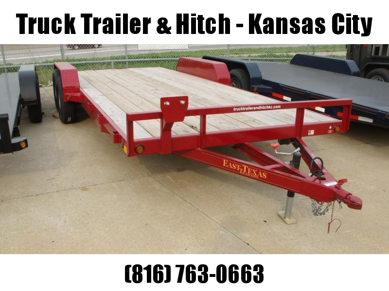 Car Hauler 83 X 20 Dove Tail  Ramps 7000 GVW  Red In Color