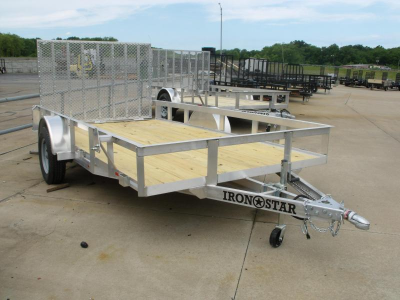 Aluminum 83 X 12 Utility Trailer With Dual Action Ramp