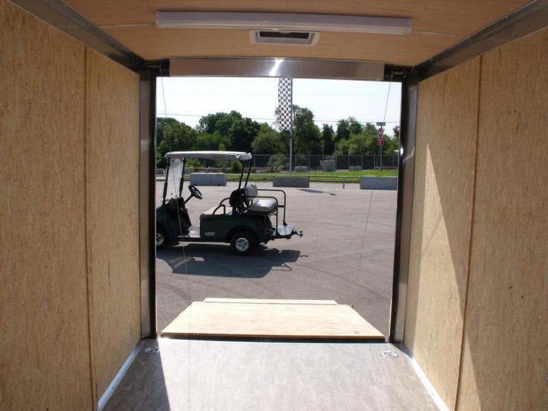 Enclosed Trailer 7 X 14 Ramp 7' Height Insulated Package 30 AMP Electrical Black In Color