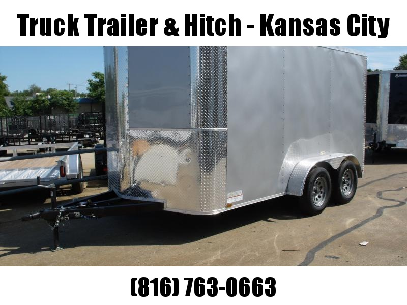 """Enclosed Trailer 7 X 12  Ramp  Silver Mist In Color 7000 GVW 6' 6"""" Interior Height"""