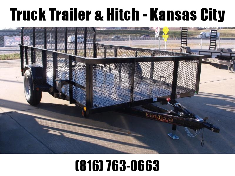 High-Wall Landscape Trailer 83 X 12 Electric Brakes Metal Deck Spring Assisted Gate  Black  In Color