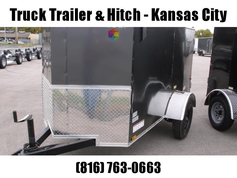 Enclosed Trailer 4 x 8 Enclosed Cargo Trailer Barn Door  CHARCOAL  In Color