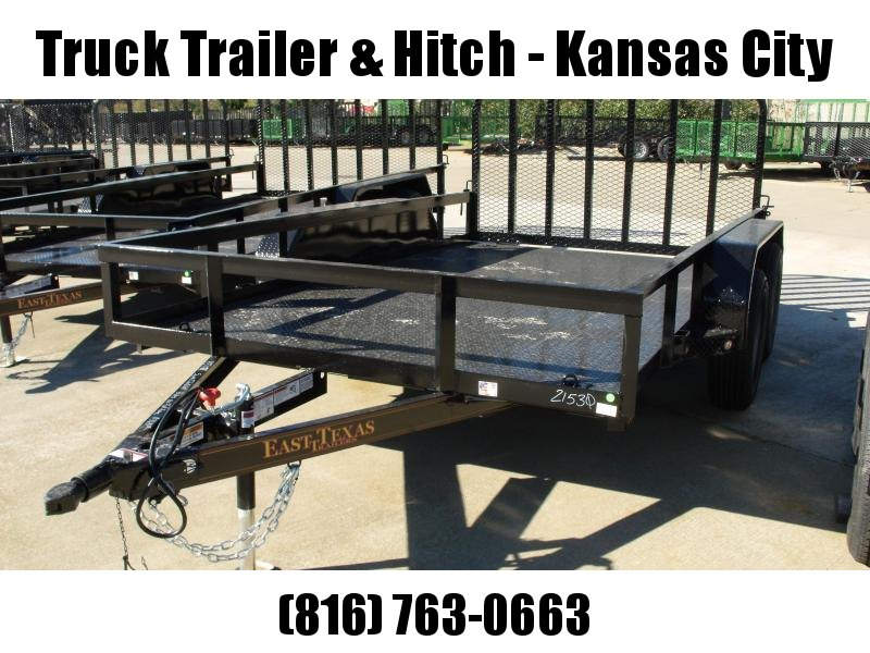 Utility Trailer  83 X 12  Metal Deck 4 WL Brakes With Tube Ramp    7000 GVW Brakes
