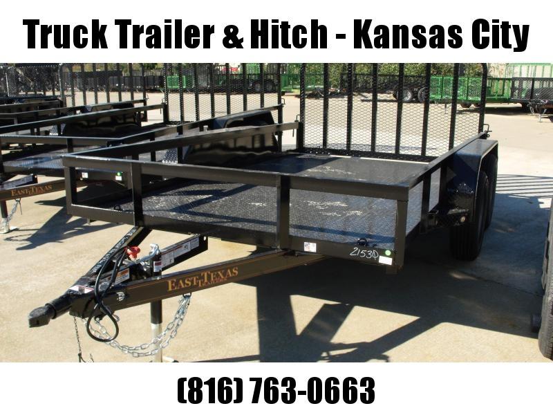 Utility Trailer  83 X 12  Metal Deck 4 WL Brakes With Tube Ramp    7000 GVW Brakes