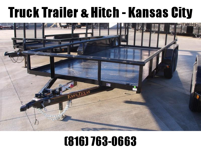 Steel Deck Pipe Rail Top Utility  Trailer 83 X 16  Ramp 4 WL Brakes 7000 GVW
