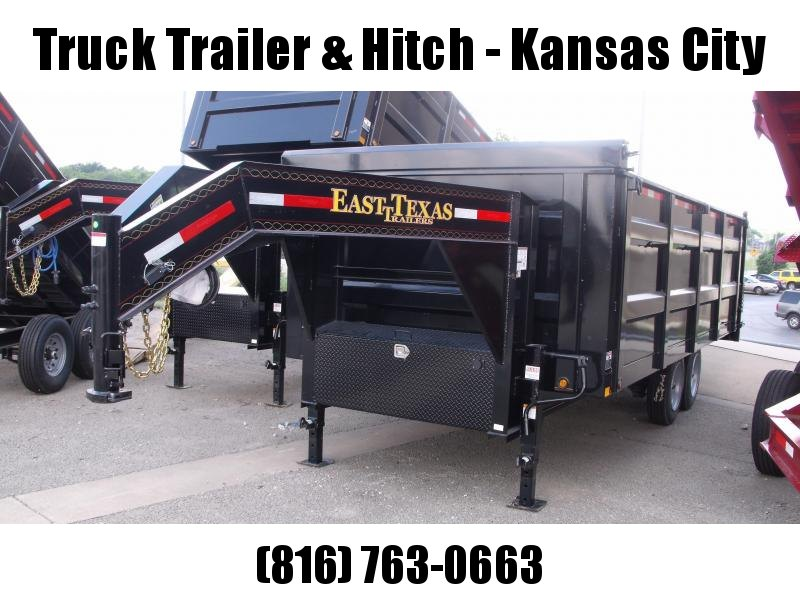 "Gooseneck Dump Trailer 96"" X 18 Hi Wall 17500 GVWR  Electric Over Hydraulic Disk Brakes"