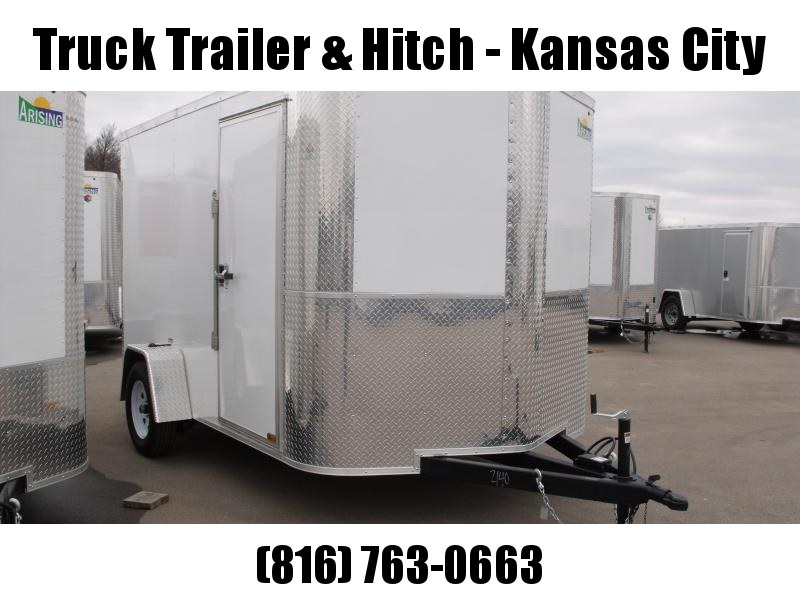 "Enclosed Trailer 7 X 10 Ramp 6' 6"" Height    All Tube Construction Two Tone White Front/Silver Mist Rear  In Color"