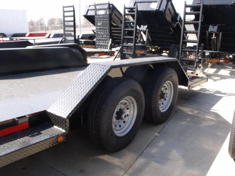 "Bob Cat  Trailer Low Profile  81 X 20 Steel Deck """"  14000 GVW HD Ramps  Drive Over Fenders"