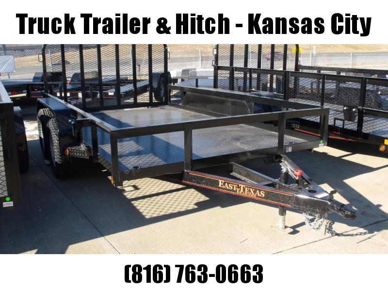 Utility Trailer  83 X 12  Metal Deck Tubular Ramp  Brakes With Tube Ramp    7000 GVW Brakes