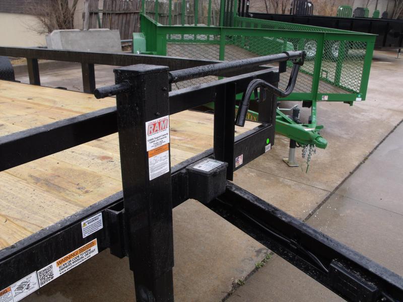 Equipment Trailer - Car Hauler 83 X 20  Wood Deck  Trailer   HD Rear Tube Gate HD Assist    9990GVW