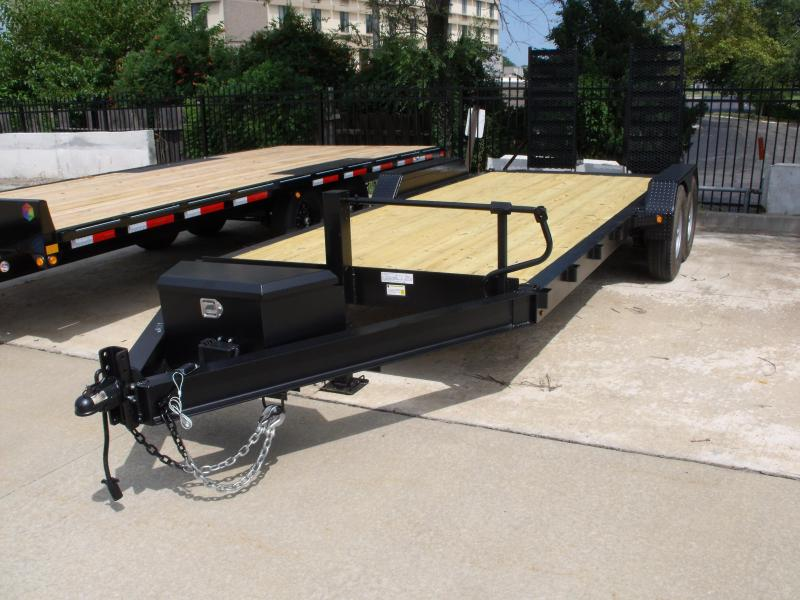 """Equipment Trailer 82"""" X 20 Self Cleaning Dove 16000 GVWR"""