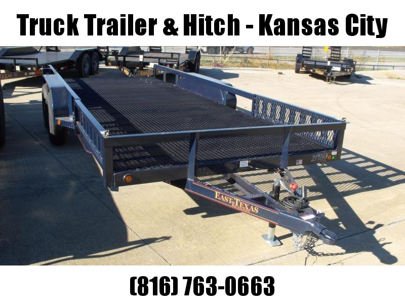 ATV Trailer 83 X 18 Mesh Floor Number 6 Very Stiff 7000 GVWR Midnight Blue In Color
