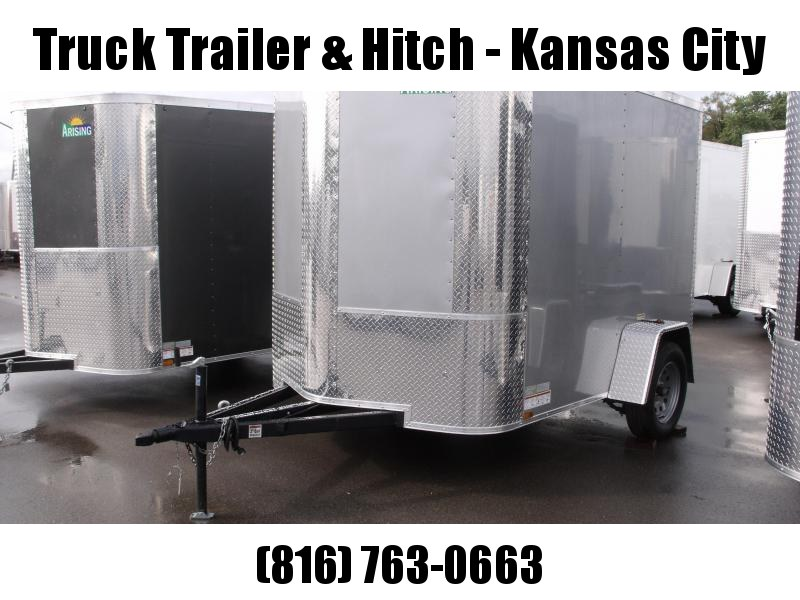"Enclosed Trailer 6 X 8 Ramp Silver Mist Color ALL Tube Construction 6' 3"" Interior"