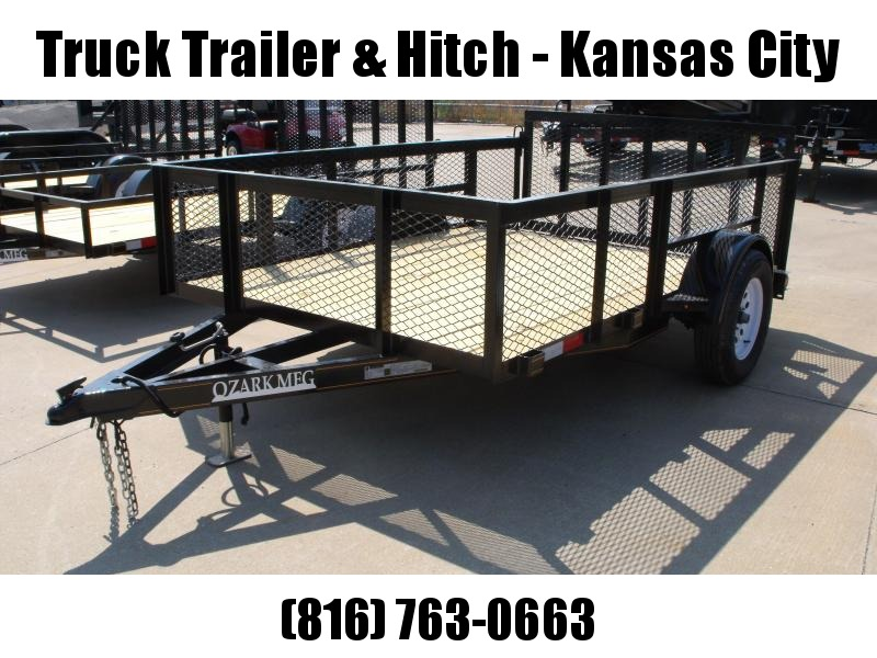 """Utility Trailer 76 X 10 High-Wall 24 """" Mesh Sides  Dove Tail 2990 Axle"""